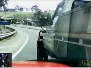 Alleged hit and run caught on dashcam video