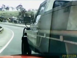 Big Banana 'hit and run' caught on dashcam