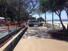 A driver caught on the footpath at Mooloolaba. 