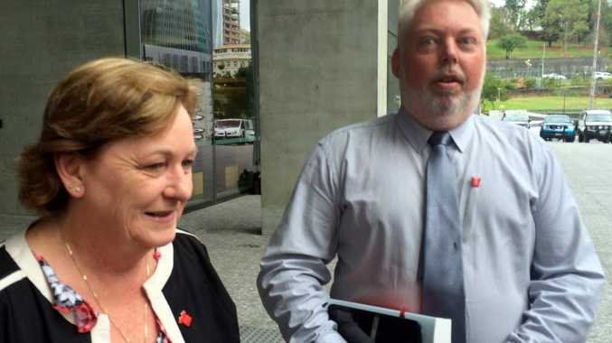 Bruce and Denise Morcombe outside the Court of Appeal which is considering the case of Brett Peter Cowan. Photo: Rae Wilson