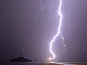 Two taken to hospital after close brush with lightning