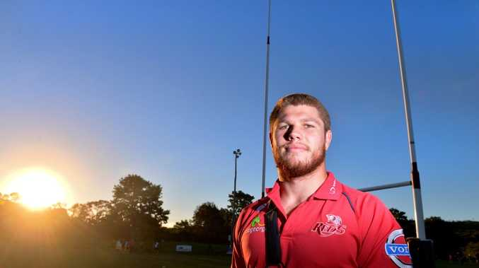 Queensland Reds player Blake Enever at Noosa Dolphins Rugby Club. Photo: John McCutcheon / Sunshine Coast Daily