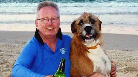 LOST FRIEND: Harry Faelmann with his best friend Scamp.