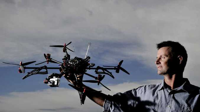 FLIGHT TECHNOLOGY: Aussie Drone Services chief pilot Wayne Chambers.