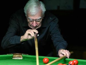 Older players dominate in seniors' snooker competition