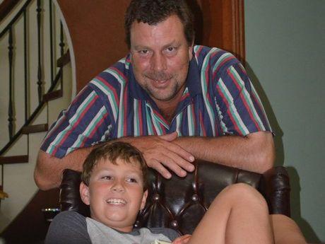 Dean Biggar with his son Clancy.