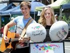 Brother and sister duo Alexie and Jordan Buma busking at the Maryborough Heritage Markets.
