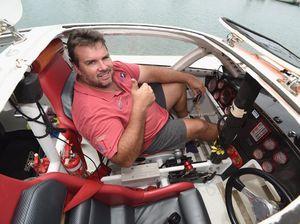 Onboard a superboat in Hervey Bay
