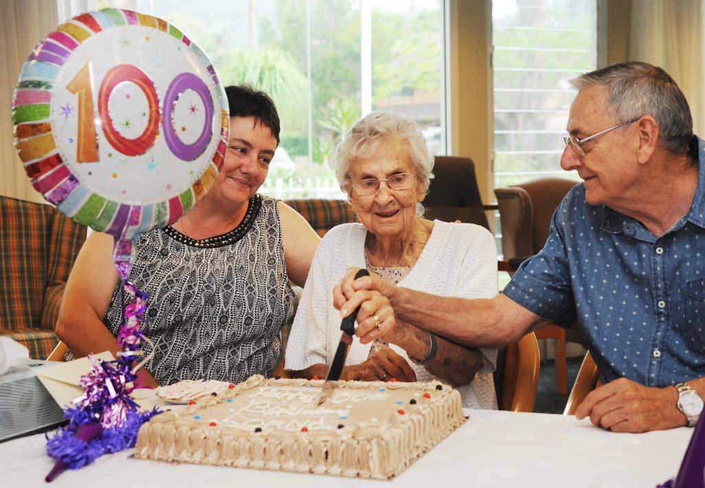 REASON TO CELEBRATE: Lorna Mary Hendley celebrates her 100th birthday.