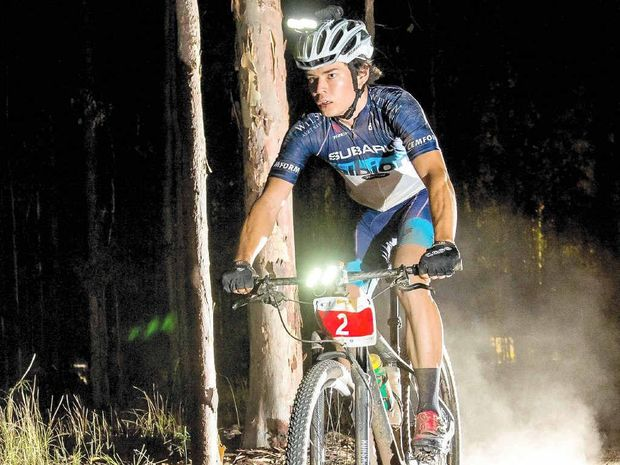 IN FORM: Alex Beedie from Coffs Harbour Cycle Club at the Grafton G-Bomb 12-hour ride this month. TREVOR VEALE