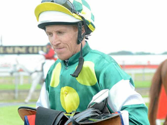 ON TRACK: Top Coffs Harbour jockey Matthew Bennett will try to add a Bellingen Cup to the trophy cabinet at Bowraville today. Photo: Leigh Jensen.