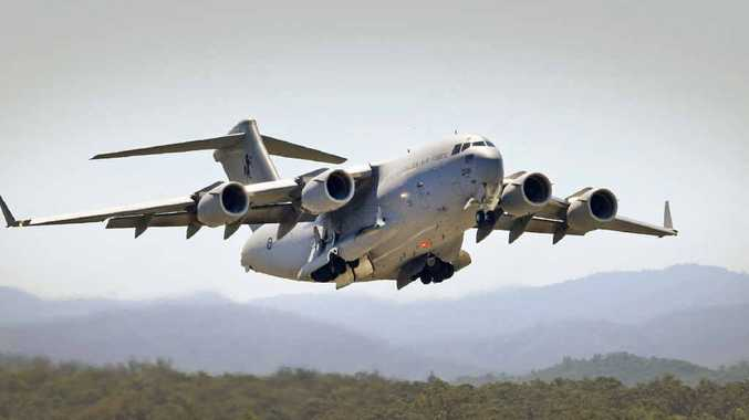 A C-17A Globemaster aircraft departs RAAF Base Amberley. The pay offer from the Abbott Government to ADF personnel has been slammed as an insult.