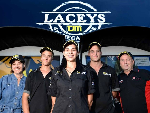 FAMILY FOCUS: Lacey's TJM family-run business, Tricia, Mitchell, Caitlyn, Joel and Anthony Lacey.