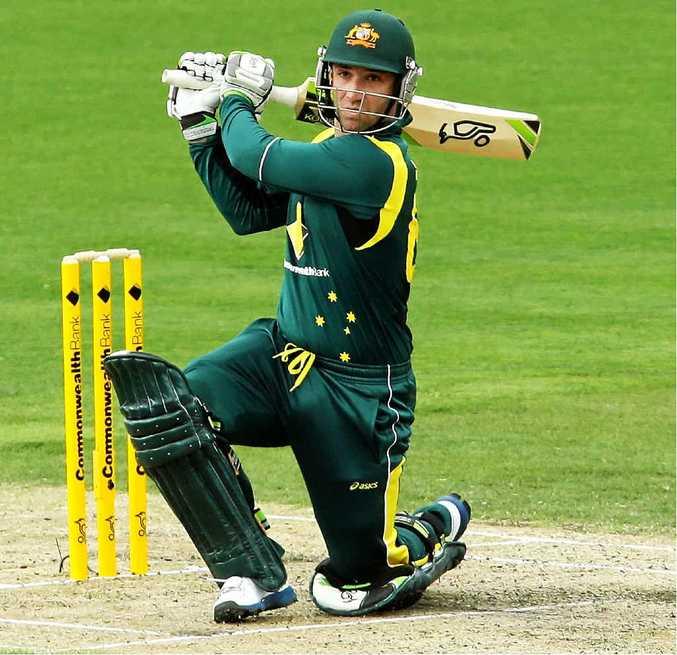 TRAGIC: Phil Hughes in action for Australia last year.