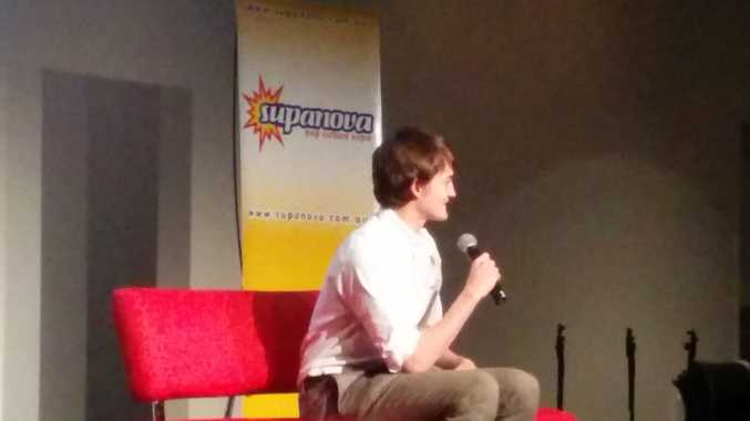 Jack Gleeson chatting with the audience at Brisbane's 2014 Supanova.