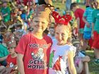 FESTIVE: Aidan Beevers, 5, and Annabelle Bailey, 6, from Prep C at Calliope State School ready to sing Christmas carols.