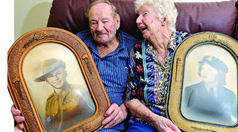 MILESTONE: War veteran Les Herse celebrated his 100th birthday yesterday with his wife Vera.