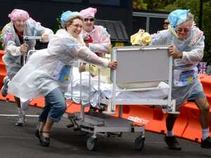 Base Hospital bed races