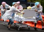 They don't take fundraising lying down at Lismore hospital