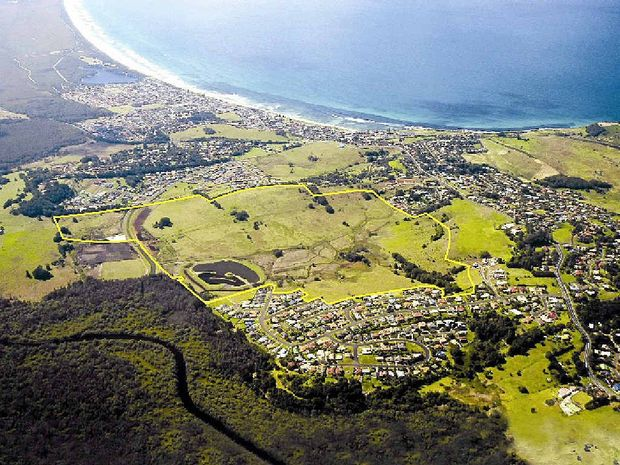 READY TO DEVELOP: An aerial of the Pacific Pines development site.