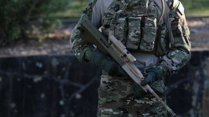 An Australian Defence Force soldier, Sydney, Monday, Oct. 15, 2012.
