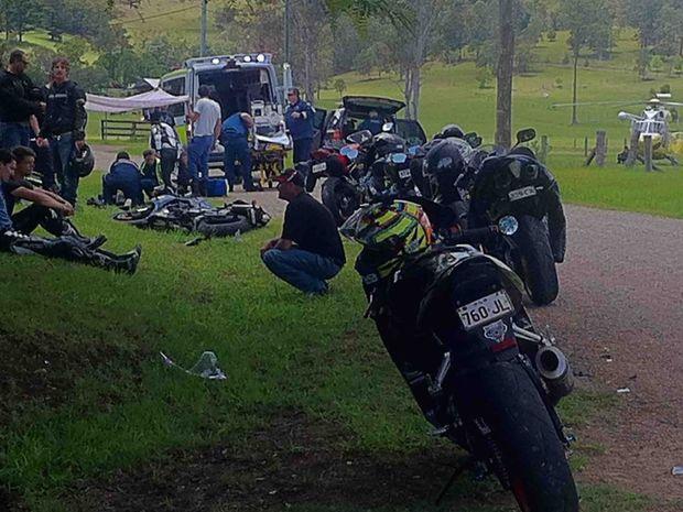 The scene of the Obi Obi crash. Photo: RACQ Careflight