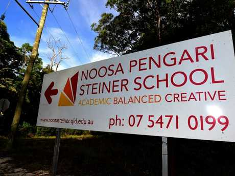 The scene at the Noosa Pengari Steiner School in Doonan following the death of a student and teacher on a school trip in New Zealand. Photo: Iain Curry / Sunshine Coast Daily