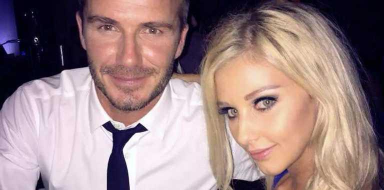 Brooklyn pictured with world-class megastar David Beckham.