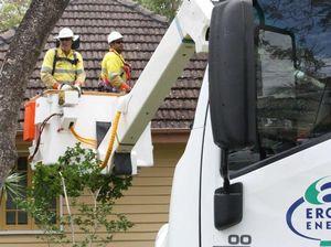 Toowoomba Ergon staff step up to storm SOS call