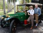 MOTORING EVENT: Regie and Terry Lewis with their 1912 Waverley which will be participating in the Veteran Car Club of Australia (Queensland) Bundaberg Rally. Photo: Mike Knott / NewsMail