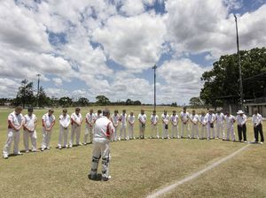 GDSC Easts and South Services players honour Hughes