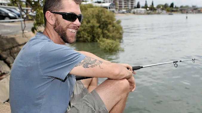 Train driver Adam Jones has fishing in his blood.