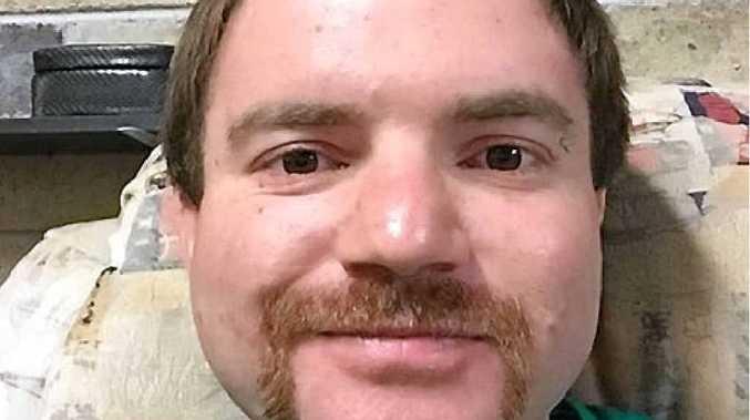 IT'S GOING: Chris Bevington sporting his 'rrucker'-style moustache for Movember.