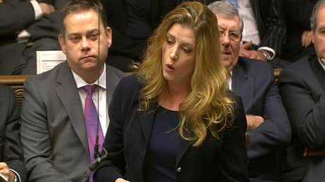 Tory MP Penny Mordaunt in the UK House of Commons