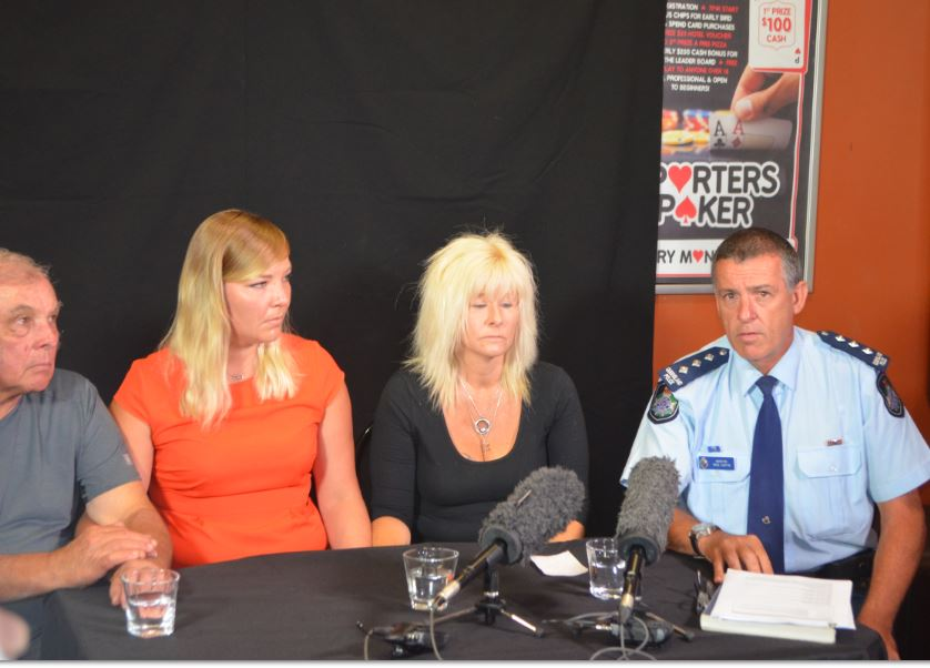 Missing man Darrell Simon's father Laurence Simon, his sister Laura Larang-Simon and his partner Sharon Rowland along with Inspector Mike Curtin are pleading for help to solve the case.