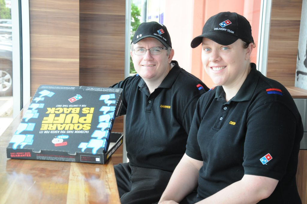 Darren and Deb Ramm are married and the owners of Domino's stores in Toowoomba.