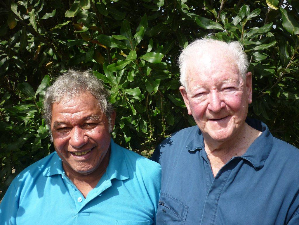 Image for sale: Peter Warner and Mano Totau. Photo Jamie Brown / The Northern Star