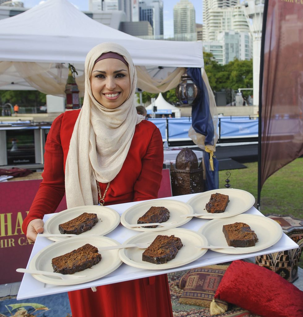 Recipe to Riches winner Sahar Awdi pictured during her product launch.