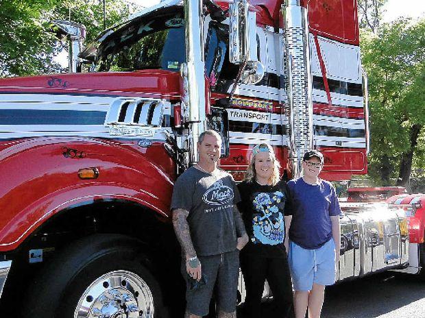 Brett Cornwill with daughter Kiah and nephew Blake.