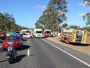 VIDEO: Rescuers at work at yesterday's Yeppoon Rd crash