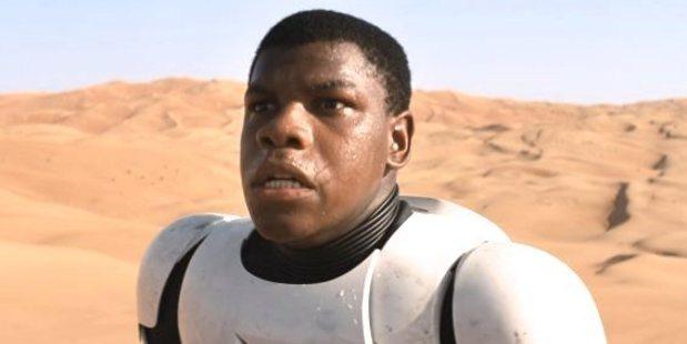 John Boyega in the new trailer for Star Wars: The Force Awakens.