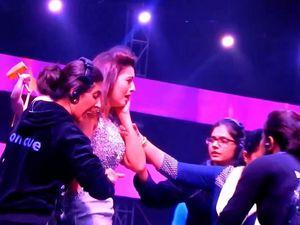 Indian model slapped on TV for wearing 'short dress'
