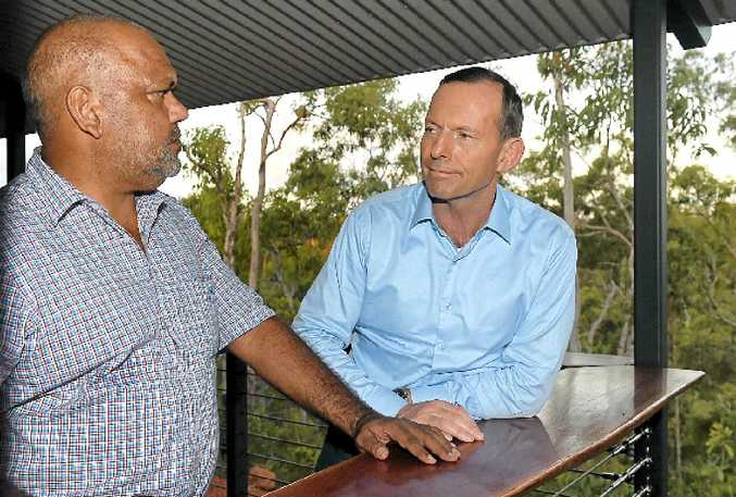 Australian prime minister Tony Abbott with Cape York Enterprises chairman Noel Pearson