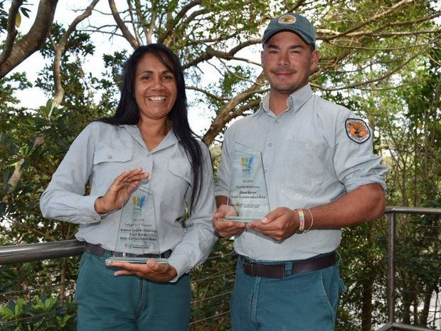 AWARD: Delta Kay and Nigel Stewart with the silver award in the NSW Tourism Award