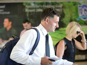 Former Australian teammate Michael Hussey arrives at Coffs Harbour International Airport before Phillip Hughes' funeral in Macksville. Photo: Trevor Veale/Coffs Coast Advocate