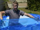 Toowoomba resident John Ebert is disappointed a temporary pool he constructed for his kids at his mother-in-law's house has had to be pulled down because council said he didn't have a permit for it. Photo Stuart Cumming / The Chronicle