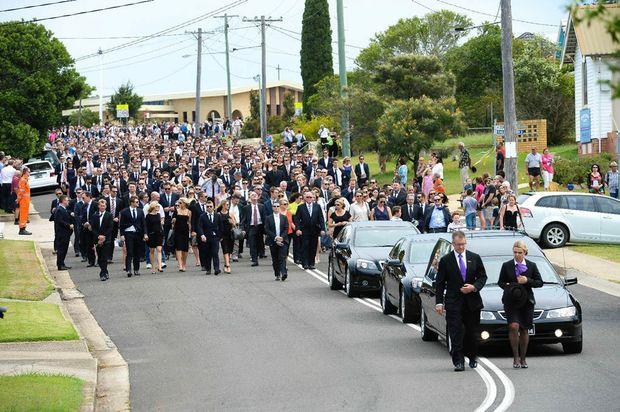 Cricketer Phillip Hughes funeral at Macksville. 03 DECEMBER 2014. Photo Trevor Veale / Coffs Coast Advocate