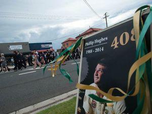 Phillip Hughes funeral cortege - Macksville