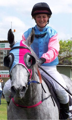 FORM HOOP: Gold Coast jockey Laura Cheshire aboard Stand Ready after winning at Murwillumbah on Melbourne Cup day. The Tweed River Jockey Club will race again on Friday of next week.