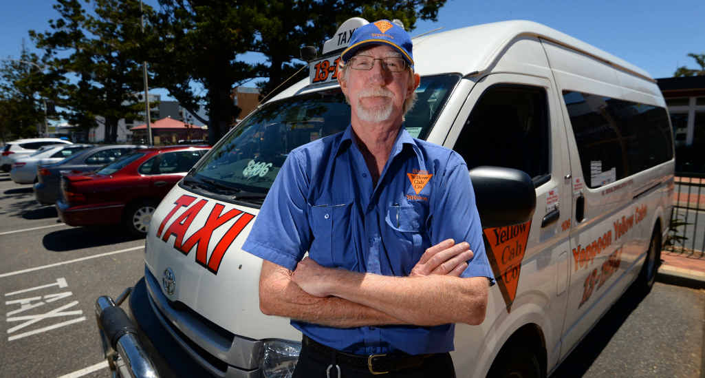 RECORD SET STRAIGHT: Ron Ware from Yeppoon Yellow Cab Company says if passengers think they have been over-charged to report the incident and it will be investigated.